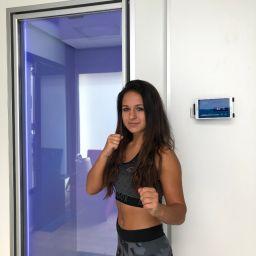 Michelle K.: Mehrfache Deutsche Meisterin im Kickboxen zu Besuch bei CoolZoone Köln
