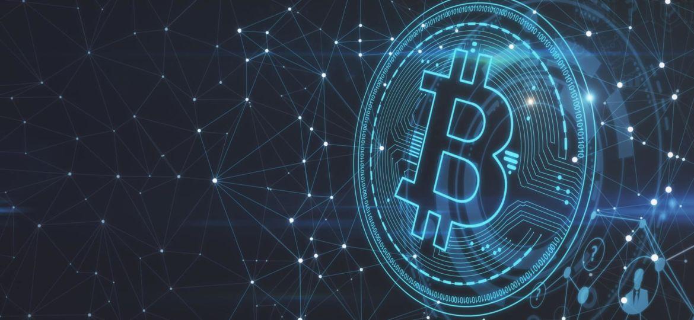 Polygonal bitcoin backdrop